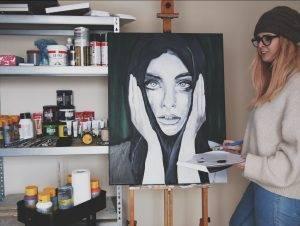dagbesteding leren schilderen, creatief bezig zijn goed voor de brein