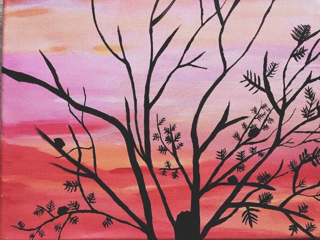 Eerste keer schilderen op dagbesteding, creatief voor hersenen
