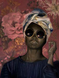 assen schilderij donkere vrouw kunst olieverf